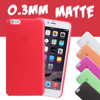 Wholesale Iphone 4s Soft Cover - 0.3mm Ultra Thin Slim Soft PP Matte Frosted Transparent Clear Back Cover Case For iPhone 8 7 Plus 6S 6 SE 5S 5 4 4S Samsung S8 Plus