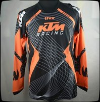 Wholesale motorcycle jacket nylon waterproof - KTM motorcycle racing fox long sleeves t-shirts jersey motorcross bicycle biking cycling T shirts motorbike moto cycling clothing