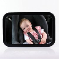 Wholesale Child Car Mirror - Large Adjustable Wide View Rear Baby Child Seat Car Safety Mirror Headrest Mount
