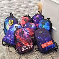 Wholesale Harajuku Bags Shoulder - Japanese New Retro Harajuku Sky Shoulder Bag Backpack Boys and Girls Tide Package Popular Fashion Student Bag
