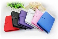 Wholesale Ipad Usb Case - Tablet case 7 inch PU Leather with usb port Keyboard for 7 9 10 Inch Tablet PC Samsung Tab with Stand Universal
