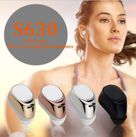 Wholesale Bluetooth Casque - For Samsung S8 i Phone 7 S630 MINI Bluetooth Casque Headset Wireless Headphone Stereo Headsets Noise Cancelling Headphones i Phone In-Ear
