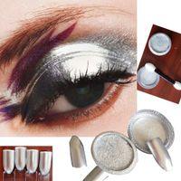 Wholesale Wholesale Powder Eye Shadow - Wholesale-GRACEFUL10ml Silver Eye Shadow Glitter Powder Pigment Nail Glitter Decoration silver nail polish FREE SHIPPING AUG22