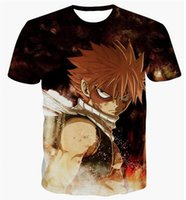 Wholesale Classic Fairy Tails - 2017 Newest Fashion Womens mens Classic Anime Fairy Tail Funny 3D Print Casual T-Shirts XTX029