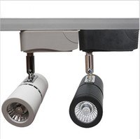 Wholesale Clothing Rails - LED Track Lights 10W Dimmable COB Rail Lights Spotlight Equal 100W Halogen Lamp Shoes Clothes Shop Supermarket Indoor Lighting