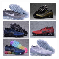 Wholesale Women Cheap Fur Real - Cheap New Rainbow VaporMax 2018 BE TRUE Men Woman Shock Running Shoes For Real Quality Fashion Men Casual Vapor Maxes Sports Sneakers