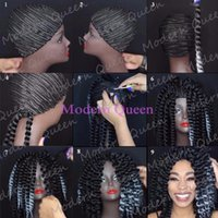 Wholesale Modern Wigs For Women - Cornrow Wig Caps For Making Wigs Braided Cap For Weave Wig Modern Queen Hair Women Hairnets Easycap Braided Cap Crochet Wig Caps Hairnets