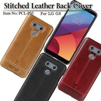 Wholesale Hard Snap Case - Pierre Cardin Premium Genuine Leather Slim Hard Fit back Case snap cover Skin for LG G6