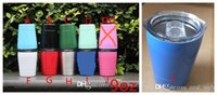Wholesale Vacuum Kid - Cheapest!!! 9oz tumbler wine glasses Vacuum Insulated mug Stainless Steel Lowball with lid with straw 9oz kid mug cup