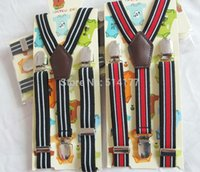 Wholesale- 2016 fashion boysgirls Ajustable 3 claps en cuir Suspensions enfants Elastic Braces kids Suspenders Enfant Vêtements Accessoires