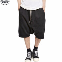 Commercio all'ingrosso- Man Si Tun 2017 più corti Kanye West freddo sweatpants mens Jumpsuit HIPHOP Rock Costume urbano vestiti Owens Dress Sweatpants