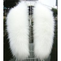 Wholesale fashion fur stole - Wholesale- NEW Winter Fashion Luxury Artificial Fox Fur Collar Scarf Warm Warmer Shawl Stole White