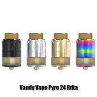Wholesale Mix Deck - Authentic Vandy Vape PYRO 24 RDTA Atomizer Vandyvape 2 4ml Postless Deck Tank With Mixed Airflow Intake System
