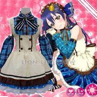 Wholesale Lolita Anime Costume - Japanese Anime Love Live! Sonoda Umi Lolita Girls Fancy Candy Maid Dress Cosplay Costumes Uniform