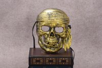 Wholesale Horror Face Makeup - New arrival Halloween Bar Makeup Ball Horror Scary Ghost Festival Skull Pirate Mask PH033 mix order as your needs