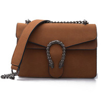 Wholesale suede bag luxury handbags women bags designer chian shoulder crossbody bag vintage Scrub famous brand Tiger head flap sac femme