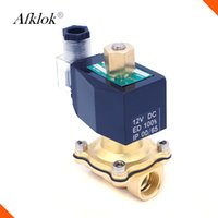 Wholesale Pilot Controls - 2W-15K Brass normally open pilot type NBR seal 1 2 inch low pressure water solenoid valve 220v ac