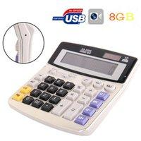Wholesale Hidden Calculator - 8GB Spy Camera Hidden Calculator Camera Mini Camcorder Video Recorder Security Covert Cam Free Shipping