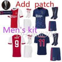 Wholesale Man Socks Quality - Top quality 2017 2018 Ajax FC home jersey with socks 17 18 away KLAASSEN FISCHEA BAZOER MILIK AJAX kit football shirts + Socks and patch