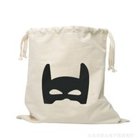 Wholesale Canvas Decorating Bags - hot Baby bedroom Storage Canvas Bags Kids Room cute Decorate Outdoor Lovely Cartoon bear batman Laundry Bags