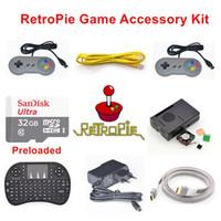 Wholesale Raspberry Model B - Raspberry Pi 3 Model B 32GB Preloaded RetroPie Game Console Accessories Kit