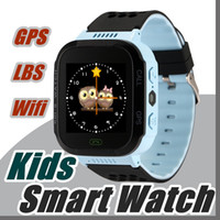 2017 Touch Screen Q528 GPS Tracker WatchAnti-Lost Enfants Enfants Smart Watch LBS Tracker Montres-bracelets SOS Call For Android IOS P-BS