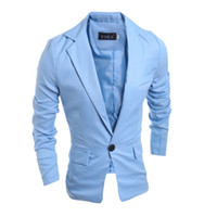 Wholesale Long Plus Size Blazer - Wholesale- New Fashion 2016 Spring Autumn Casual Suits Men Slim Business Dress Suits Jacket 4 Solid Color Plus SIze Male Men Tops Clothing