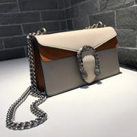 bolso de tres tonos al por mayor-Nueva cadena vintage Dos tonos solo bolso mensajero shouler señora moda noche embrague tricolor no195