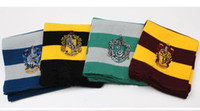 Wholesale Harry Potter Scarf Ravenclaw - Harry Potter Scarf Gryffindor Slytherin Hufflepuff Ravenclaw Knitted Neckscarf 4 Colors Available Xmas Halloween Birthday Gift Cosplay Wear