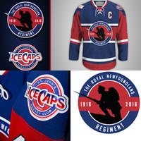 Wholesale Royal Jerseys - St. John's IceCaps unveil Royal Newfoundland Regiment Jersey 100TH ANNIVERSARY OF BEAUMONT-HAMEL Throwback Hockey Jerseys Blue