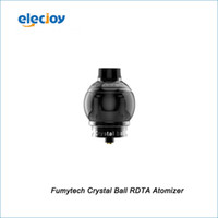 Wholesale New Crystal Atomizer - Wholesale- New 100% Original Fumytech Crystal Ball RDTA atomizer Electronic cigarettes Black - In Stock