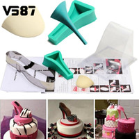 Fondant Cake 3D Silicone Stilleto <b>High Heel Mold</b> Lady Shoe Mold для свадебного торта для DIY Home Bakeware