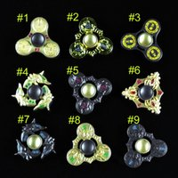 Wholesale Honor Glory - Metal Honor Hand fidget triangle Spinners HandSpinner Fidget Toy EDC Glory of the king Decompression Anxiety Gyro toys B001