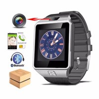 Wholesale Black Kids Mp3 - DZ09 Smart Watch for Apple Android Phone Smartwatch Wristband with Camera Anti-lost Support SIM TF Card MP3 pk GT08 Intelligence Watch