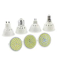 punto de luz 5w e27 al por mayor-E27 E14 MR16 GU10 Lampada LED del bulbo de la lámpara 110V 220V Bombillas LED Foco 48 60 80 LED Lampara para comer CFL crece la planta Light
