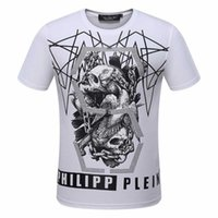 Wholesale New Men Tshirts - pp8114 M-3XL 2017 new style Tide brand men's Tshirts Hot drilling and printing Designer Men T-shirts Stretch cotton top quality tshits Skull