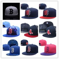 Wholesale Silk Sox - Newest Design Wholesale Boston Red Sox Adjustable hats baseball Red Sox hats size flat-brim Adjustable Caps