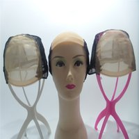 Wholesale adjustable net wig cap for sale - Group buy simulation of the scalp Swiss net High Quality Caps For Making Wigs Adjustable Weaving Cap with Adjustable Strap and Front Ultra Skin