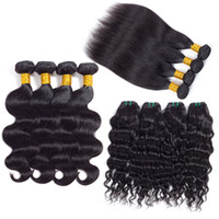 Wholesale human hair weave extensions for sale for sale - Group buy On Sale Popular Brazilian Virgin Hair Weave Bundles Straight Human Hair Extensions Silk Soft Hair Wefts Daily Deals Just for you