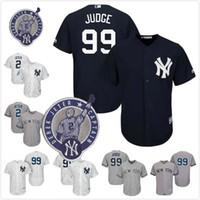 Wholesale Cheap Pinstripe Baseball Jerseys - New York Yankees Jersey 99 Aaron Judge 2 Derek Jeter Baseball Jerseys Cheap White Pinstripe Cool Flex Base Player Mens Baseball Jerseys Size