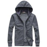 Wholesale Hoddie Men - Men Hoodies and Sweatshirts Mens Casual Cotton Hooded cardigan Hoddie Coat hip hop Sportsuit Tracksuit Sweatshirt