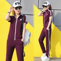 Wholesale Women s summer leisure sports suit new Korean Slim was thin comfortable sports running suit two sets