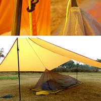 Wholesale vented door - 260G Ultralight Outdoor Camping Tent Summer 1 Single Person Mesh Tent Body Inner Tent Vents Mosquito Net For Fishing Tourist