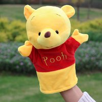 Wholesale Pooh Bear Toys - New Pooh Bear Hand Doll Doll Plush Glove Doll Kindergarten Classroom Story Show Props Factory Price Free Shipping