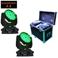 Wholesale used head lights - Road Case 2in1 Packing 108 3W Led Moving Head Wash Light 12 DMX Mode Smooth RGBW Color Liner Dimmer for Theater Club Use 90-240V
