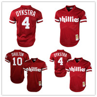 8fd978804 Throwback Jersey Baseball Men Short Mens Philadelphia Phillies Darren  Daulton10 Mitchell Ness Red ...