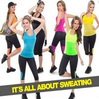 Wholesale Stretch Tank Tops Women - Body Control Shapers Tank Top Super Stretch Neoprene Slimming Vests Training Corset Vests Waistcoats Gym Sports Tummy Shaper CCA7224 30pcs