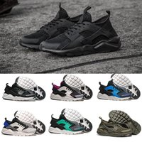 Wholesale Id Shoes - 2017 Huarache 4 ID Custom Breathe Running Shoes For Men Women,Woman Mens navy blue tan Air Huaraches Multicolor Sneakers Athletic Trainers
