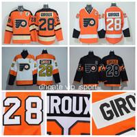 2e1976709 Philadelphia Flyers 28 Claude Giroux Jersey Men Ice Hockey 2017 Stadium  Series 2012 Winter Classic 50th Anniversary White Black Orange ...