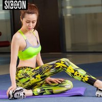 SIBOON Training Legging Frauen Fitness Kleidung Yoga Hosen Frauen Damen laufen Leggings Kompression Hosen Calzas Frau Gradient Print